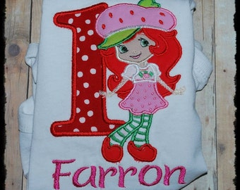Strawberry Girl Embroidered Shirt