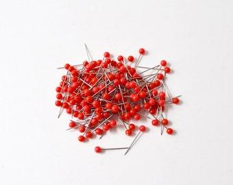 Map Tacks Red Push Pins Map Markers 100 Pins Short Pins Travel Map Push Pins