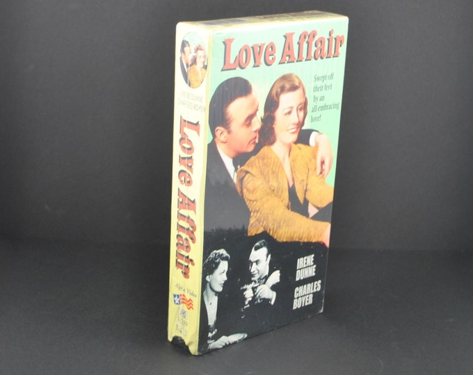 Vintage Love Affair VHS Tape - Sealed -1939 Remake - Irene Dunne & Charles Boyer - Movie - MGM - Musical - Dancing - VCR - Collectible