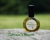 Natural cologne - tobacco cognac leather seaweed musk - THE CAPTAINS BLEND -  1 one ounce spray bottle