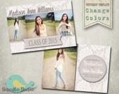 Graduation Announcement PHOTOSHOP TEMPLATE -  Senior Graduation 47