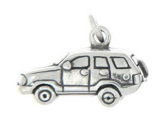 Sterling Silver Sport Utility Vehicle SUV Charm