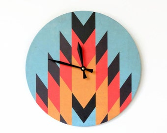 Wall Clock,  Trending Aztec Design,  Unique Wall Clock, Decor and Housewares, Home and Living, Home Decor