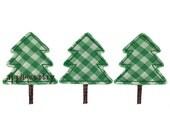Tree Trio Christmas Applique Design (Machine Applique Embroidery Design) Instant Digital Download by Applique a Day 4x4 5x7 6x10