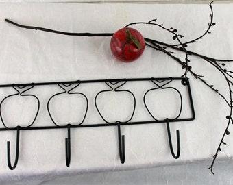 Vintage Apple Rack Wire Hook Coat hanger