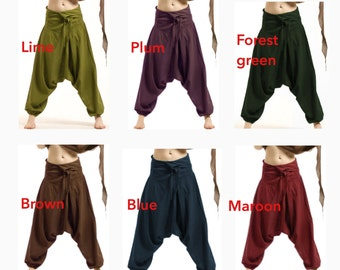 UNISEX FISHERMEN pants, yoga trousers, harem pants men, harem pants, aladdin pants, Cvtrfa