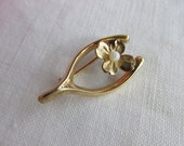 Brooch - Wishbone - Gold Fill - Vintage