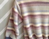 vintage healthtex velour sweatshirt purple lavender periwinkle preppy size 2T/3T
