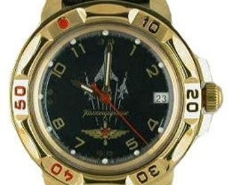 "Russian mens mechanical amphibian watch wristwatch ""VOSTOK KOMANDIRSKIE"" AIRCRAFT"
