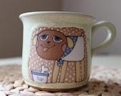 Coffee mug with happy dog
