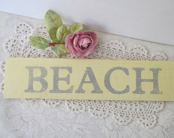 Nautical Beach Sign,  Reclaimed Wood Sign, Signage, Beach Cottage, Ocean Decor,  Distressed, Handmade Sign, Beach Themed Room