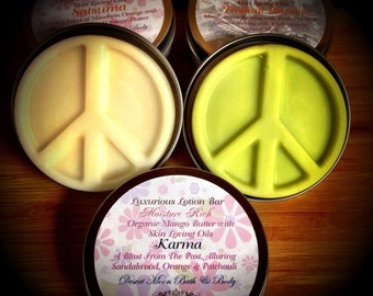 Lotion Bars with Natural Organic Mango Body Butter and Oils Moisture Rich. Vegan!