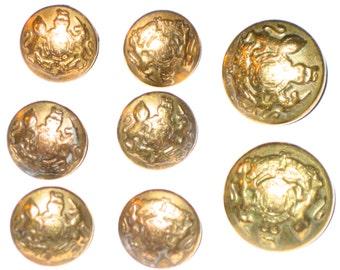 8 vintage metal shank Pendleton buttons