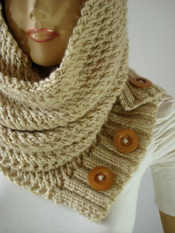 KNITTING PATTERN HOODED Cowl Scarf - LouLou Hood Scarf ...