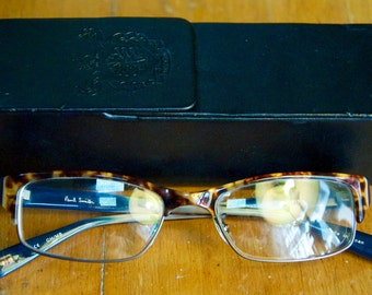 Vintage Authentic Paul Smith London Rx Glasses w/ Original Case