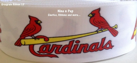 St louis cardinals grosgrain ribbon 1 1 2 39 5 yds by ninanpep for Craft stores st louis