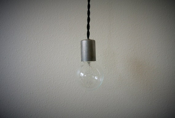 Modern Steel Bare Bulb Swag Or Ceiling Mount By Pepeandcarols