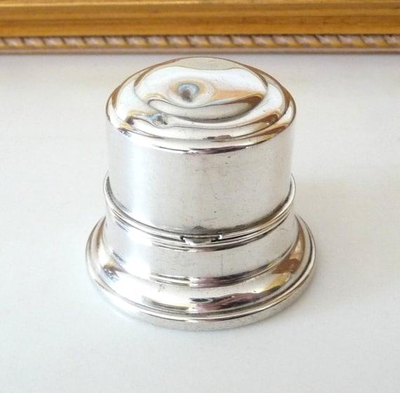 1920s birks sterling silver ring box wedding ring