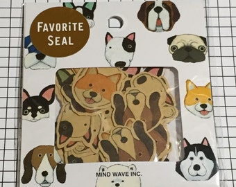 Japan Mind wave stickers / Stickers Flakes / Dog stickers - 71 stickers (1 pack) MW 77223