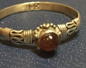 Amber Sterling Silver ring SZ  6 1/2