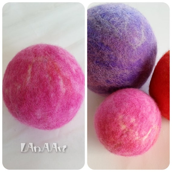 Items similar to Natural eco toy SMALL PINK PLANET felted ...