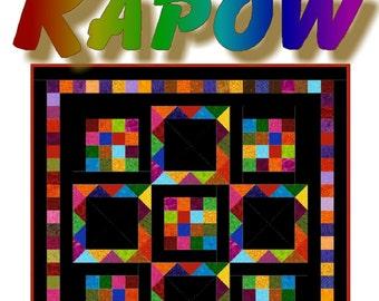 KAPOW -  Quilt-Addicts Patchwork Quilt Pattern