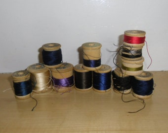 Vintage Threads - Beldings Corticelli Silk Sewing Thread, Embroidery, Art Supply, Fly Tying, Quilting