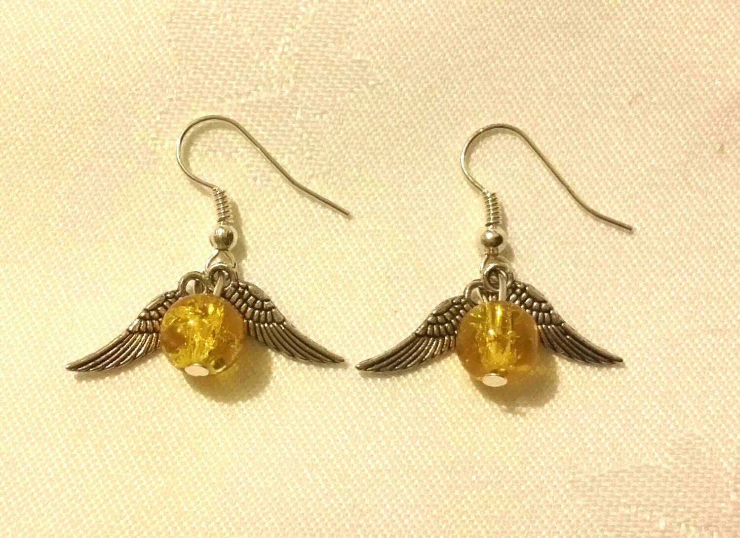golden snitch earrings harry potter golden snitch earrings 7548