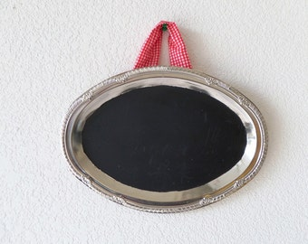 Oval Chalkboard  Sign with removable strap