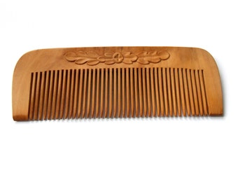 Natural wooden hair comb, pocket comb, suitable for men, eco friendly, natural personalize wood carving, scalp massage, handmade, MariyaArts