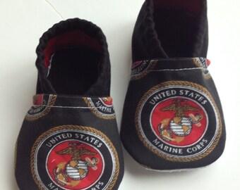 Military Marine Corp baby booties