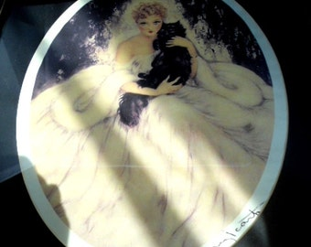 """Vintage Louis Icart Framed Giclee Print """"Sweet Mystery"""" in beautiful frame & mat copyright 1935"""