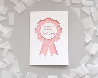 Papercut 'Best Mum' Card