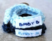 Baby Twin ID Bracelets - Personalized Baby Twin Identification Bracelets - 2 Custom Baby Name Bracelets - Adjustable With Buttons
