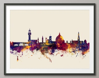 Florence Skyline, Florence Italy Cityscape Art Print (1515)
