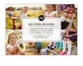 INSTANT DOWNLOAD - Back to School Mini session design - Photoshop template - E1078