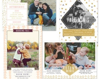 INSTANT DOWNLOAD - Fall Mini Session boards bundle - Photoshop required - E1091