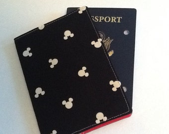 Mickey Passport Cover - Passport Holder - International Travel - Disney Fan Gift - Passport Wallet Mouse