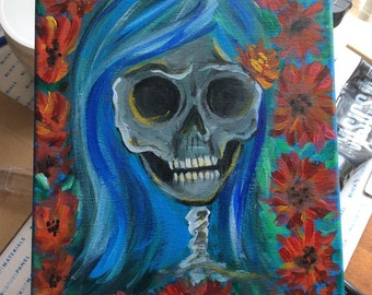 Dead Girl with Poppies ooak