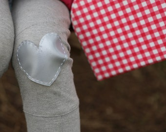 Knee patch - heart