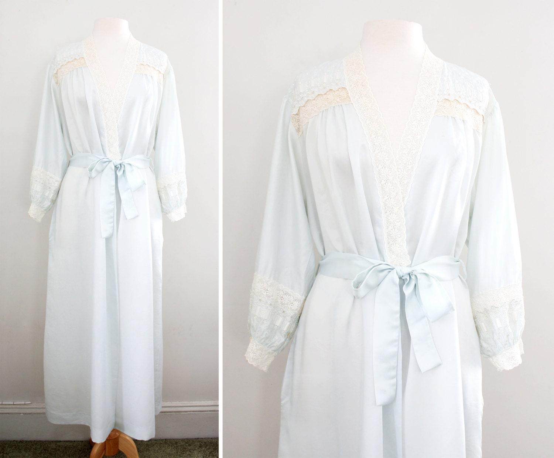 Vintage Lingerie 1970s 80s Christian Dior Maxi Robe Long