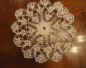 Stunning open weave cotton hand crochet doiley