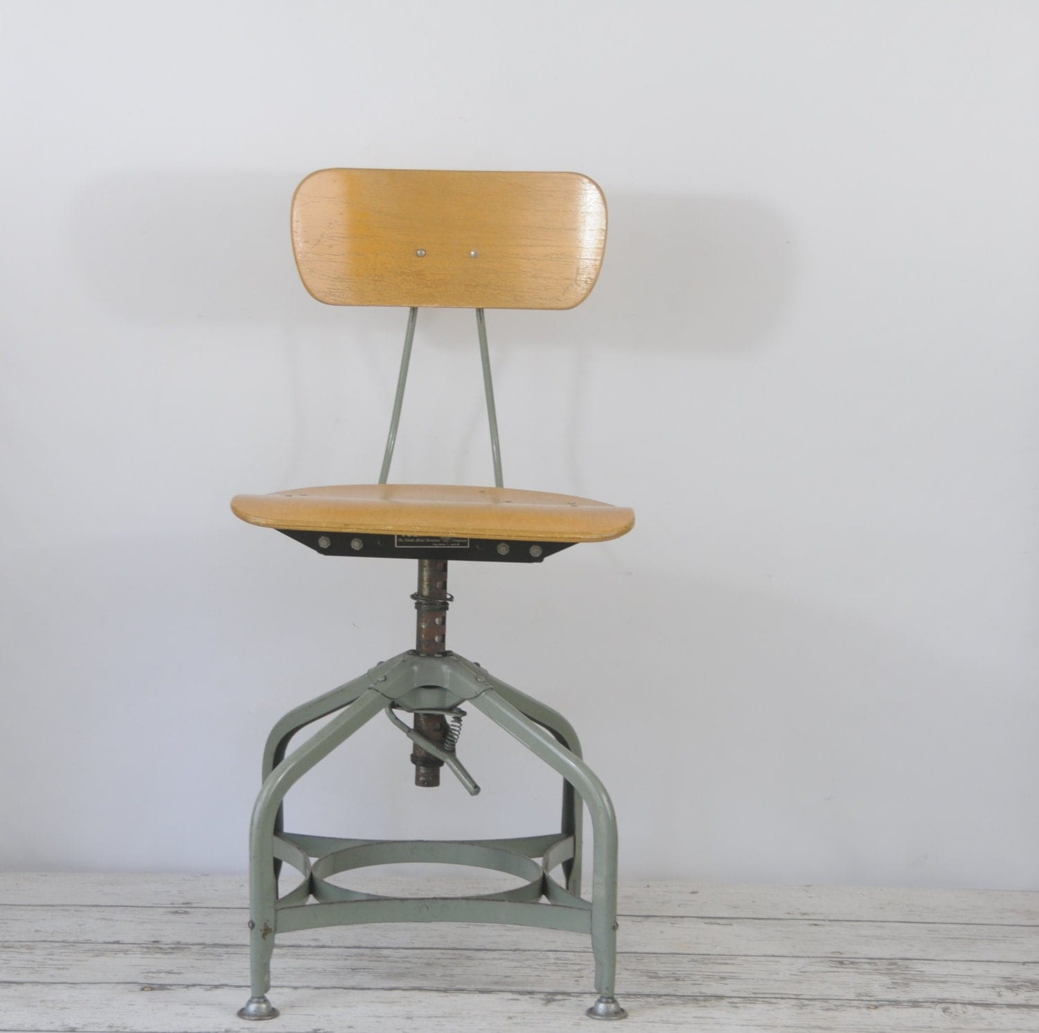 Vintage 1940 s toledo drafting chair stool by pagescrappers