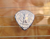 Metal Guitar Pick - FREE US SHIPPING - Shaped From A Quarter -