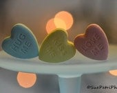 Valentines Candy Photo, Candy Photography, Food Porn, Photograph, Pastel Decor, Romantic Decor, Valentines, Sweetheart Candy, Candy Print