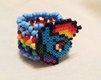 My Little Pony Rainbow Dash Kandi Cuff - Rave - Festival