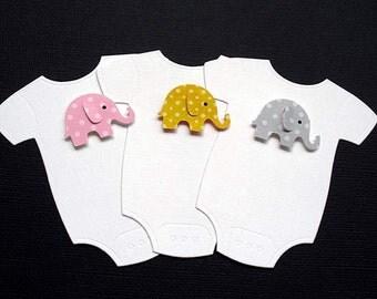 Embossed ONESIE Elephant Wish Card Tags