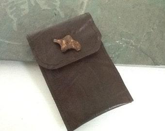 Repurposed textured leather I phone sleeve,I phone cover, I pod sleeve, I pod cover