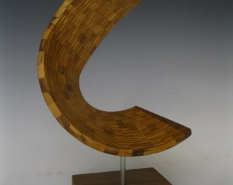 Wood sculpture abstract  modern art