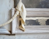 Mixed Media Assamblage Collage Sculpture Shabby Chic Romantic Art. Recycled Antique materials.